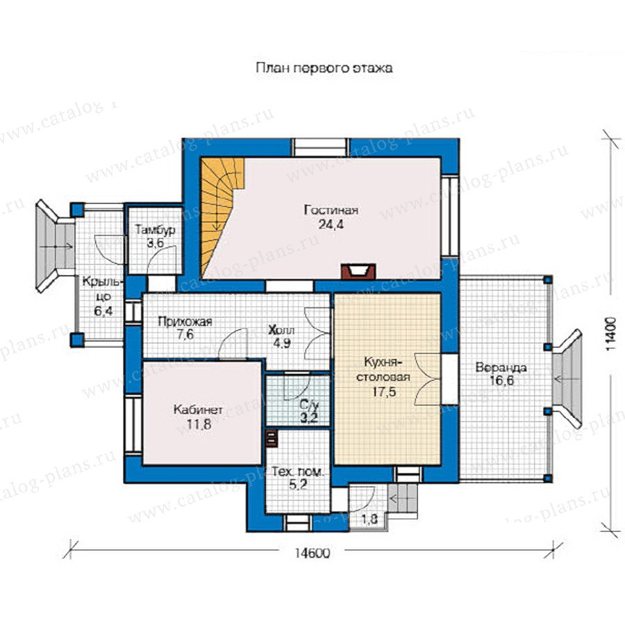 План 1-этажа проекта 49-20