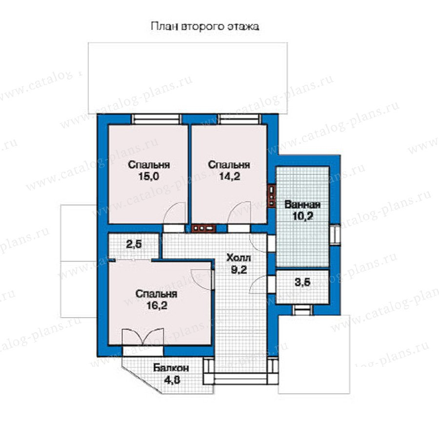 План 2-этажа проекта 49-32