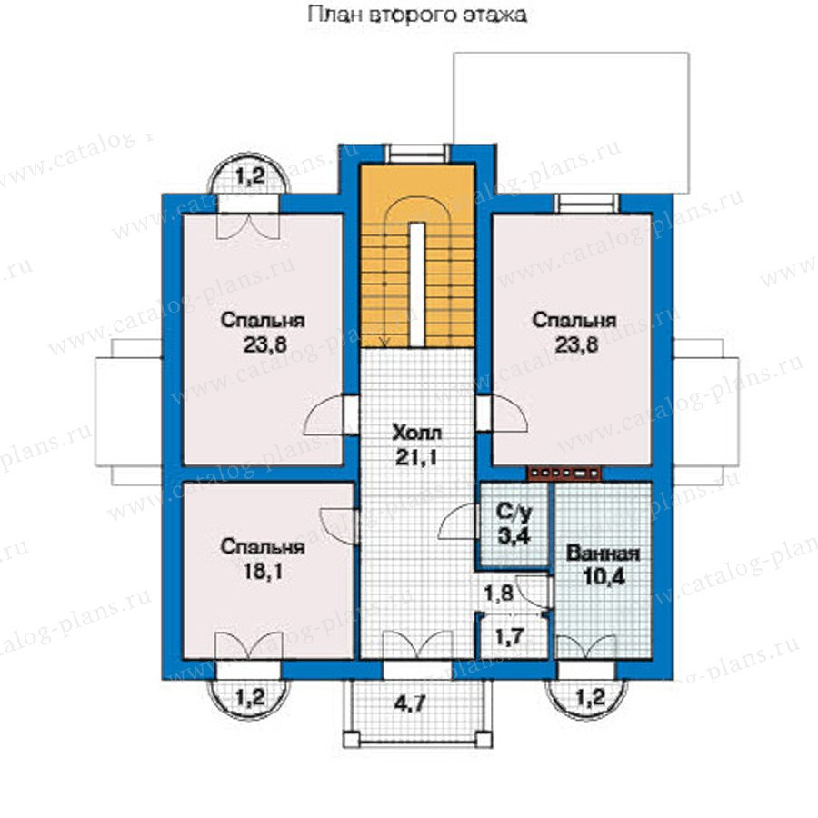 План 2-этажа проекта 49-40