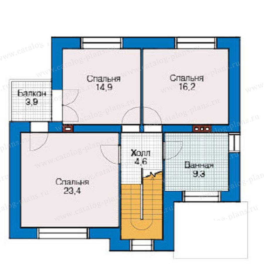 План 2-этажа проекта 49-18