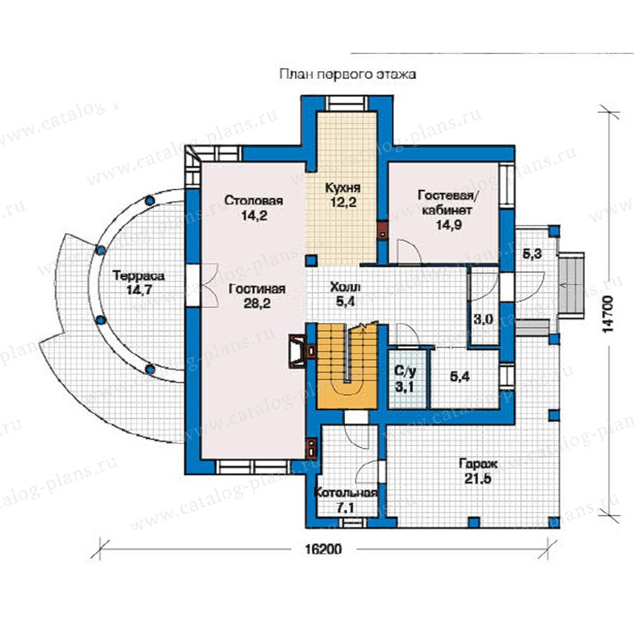 План 1-этажа проекта 49-37
