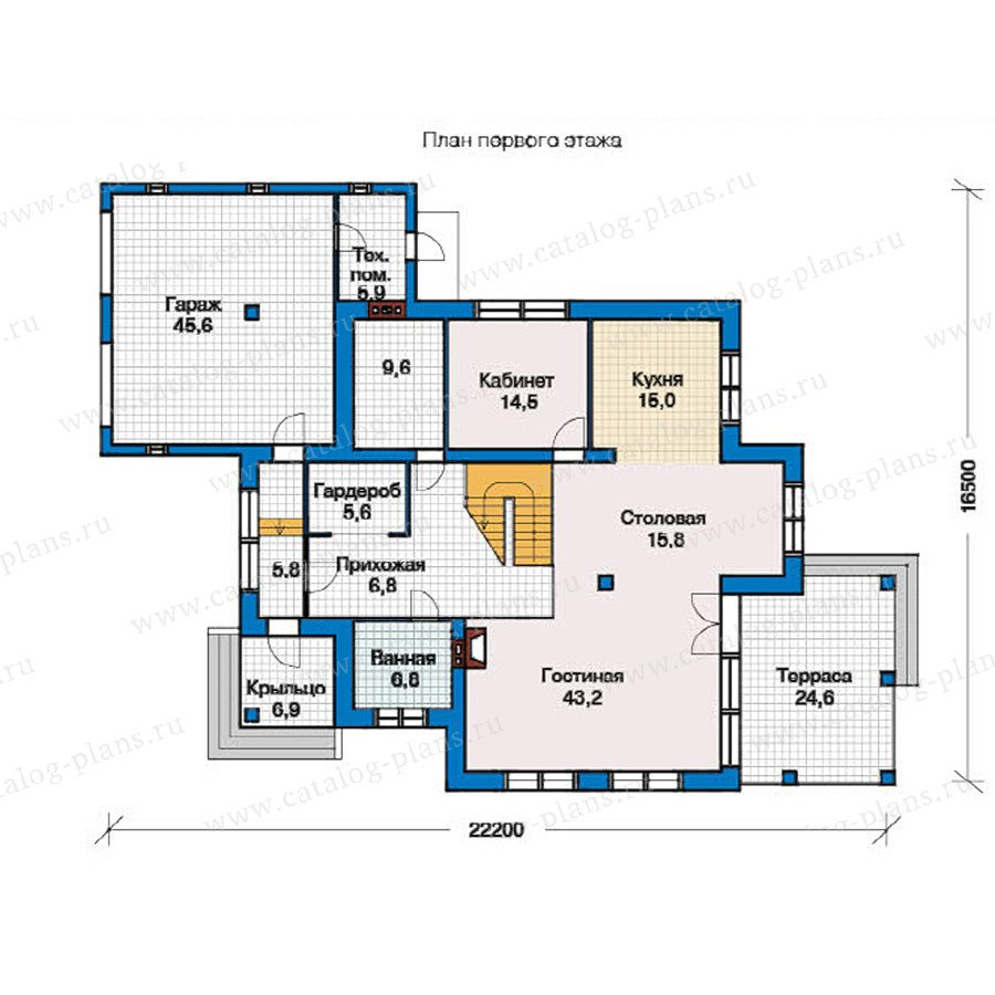 План 1-этажа проекта 49-25