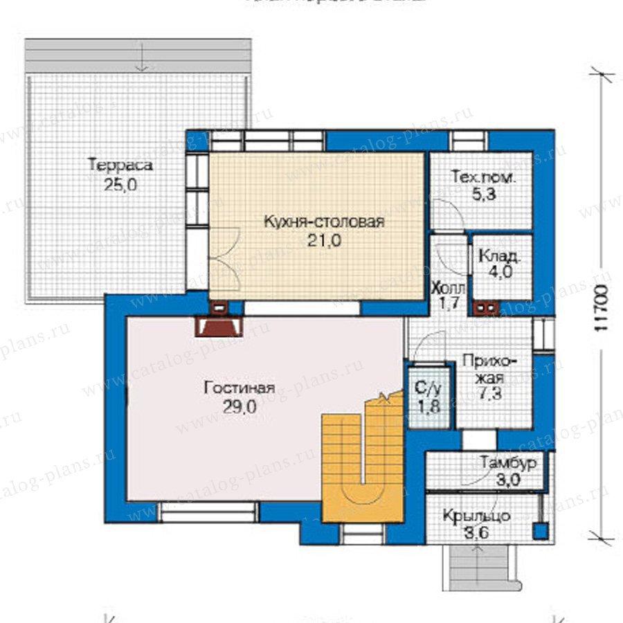 План 1-этажа проекта 49-18