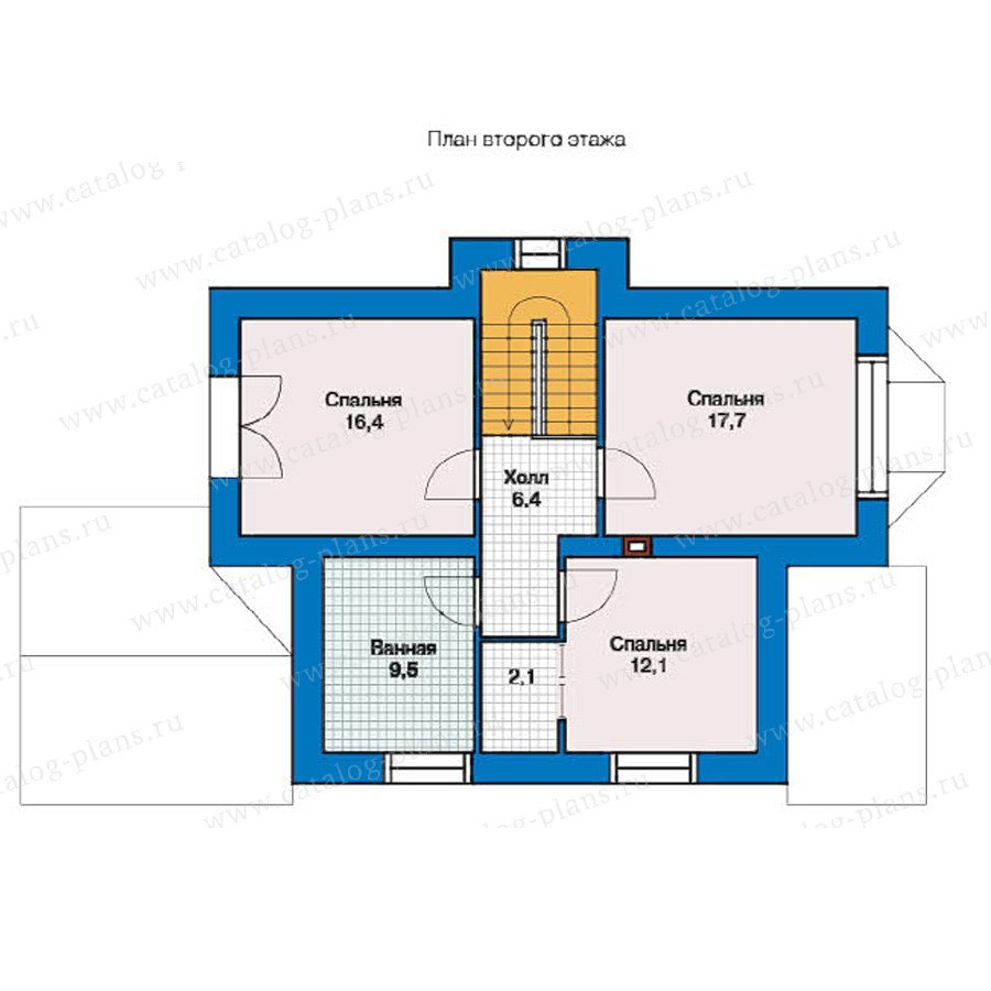 План 2-этажа проекта 49-38