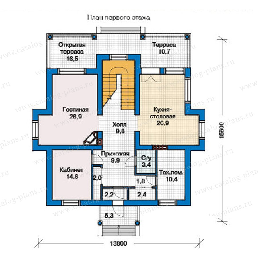 План 1-этажа проекта 49-40