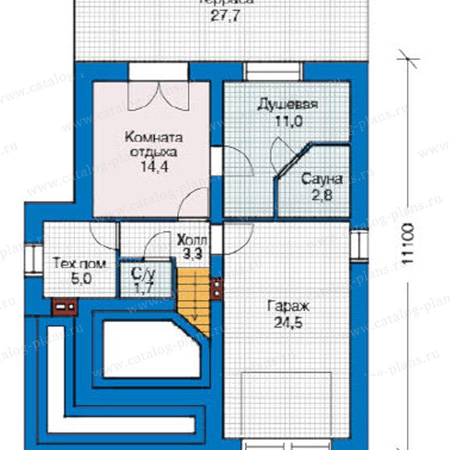 План 1-этажа проекта 49-21