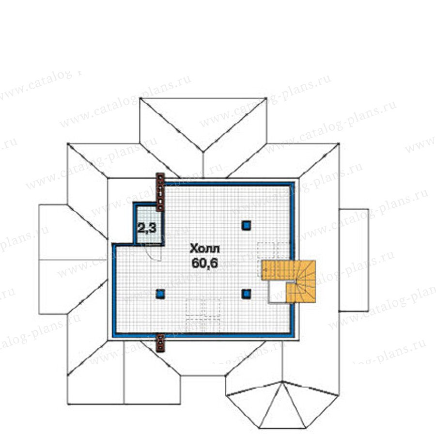 План 3-этажа проекта 49-24