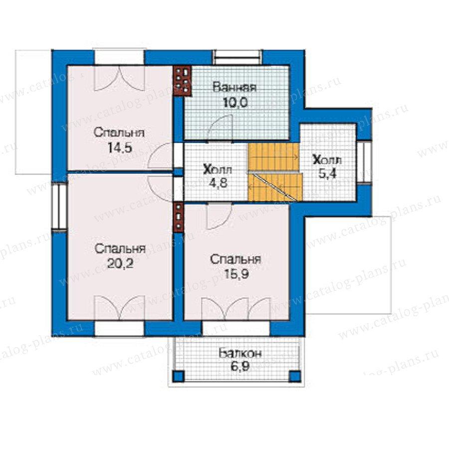 План 3-этажа проекта 49-22