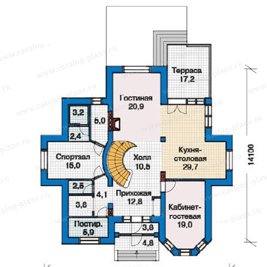 План 1-этажа проекта 49-24