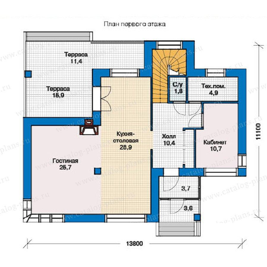 План 1-этажа проекта 49-35
