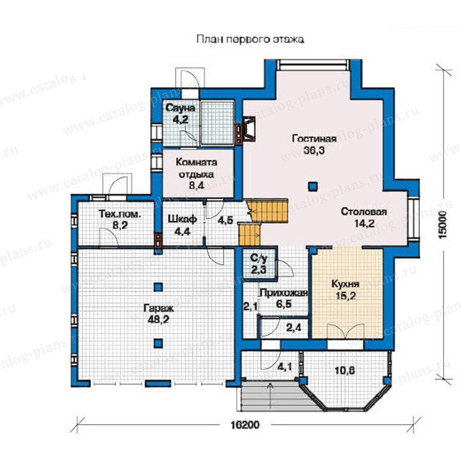 План 1-этажа проекта 49-33