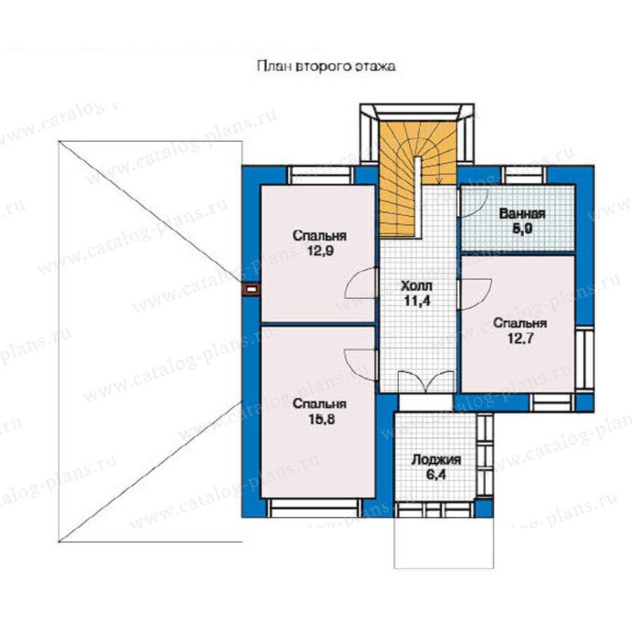 План 2-этажа проекта 49-35
