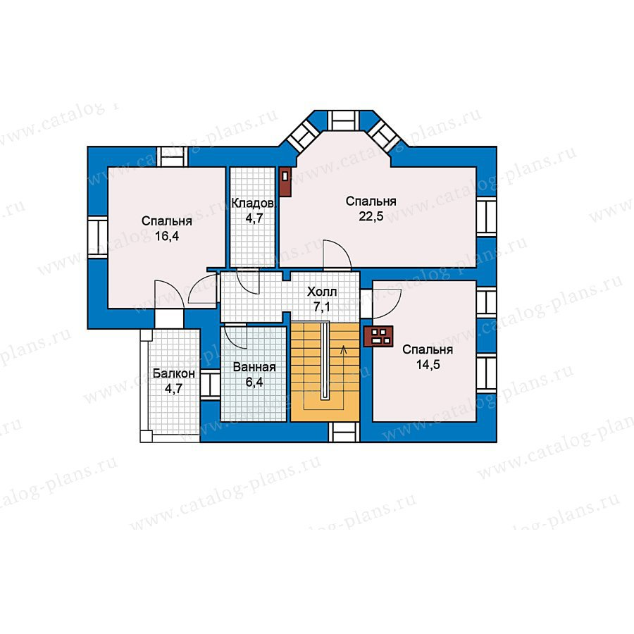 План 2-этажа проекта 49-65