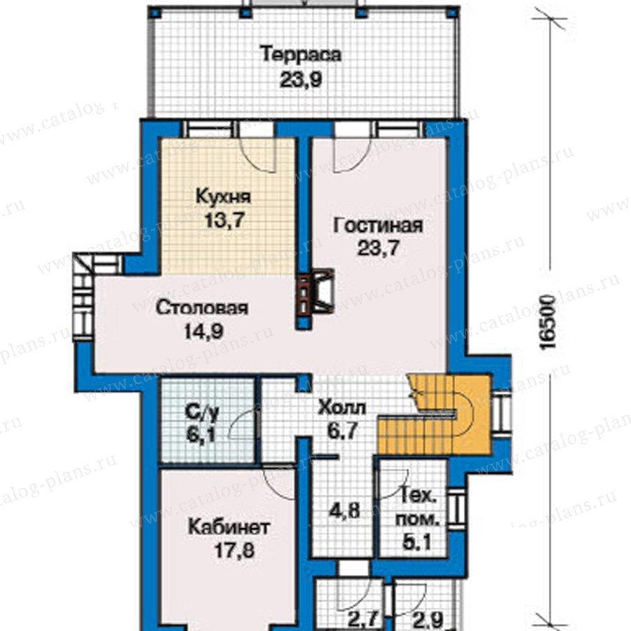 План 1-этажа проекта 49-42
