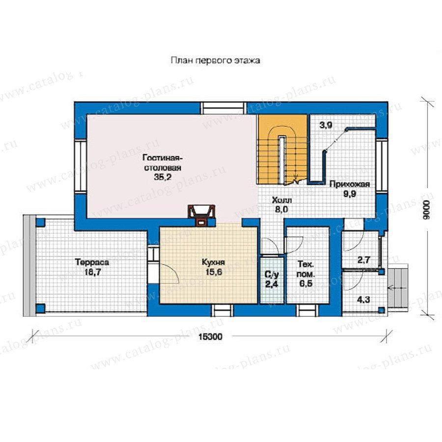 План 1-этажа проекта 49-44