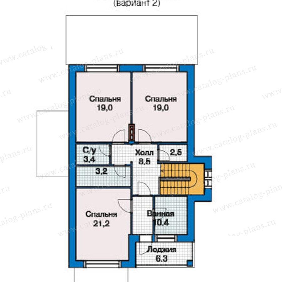 План 2-этажа проекта 49-42