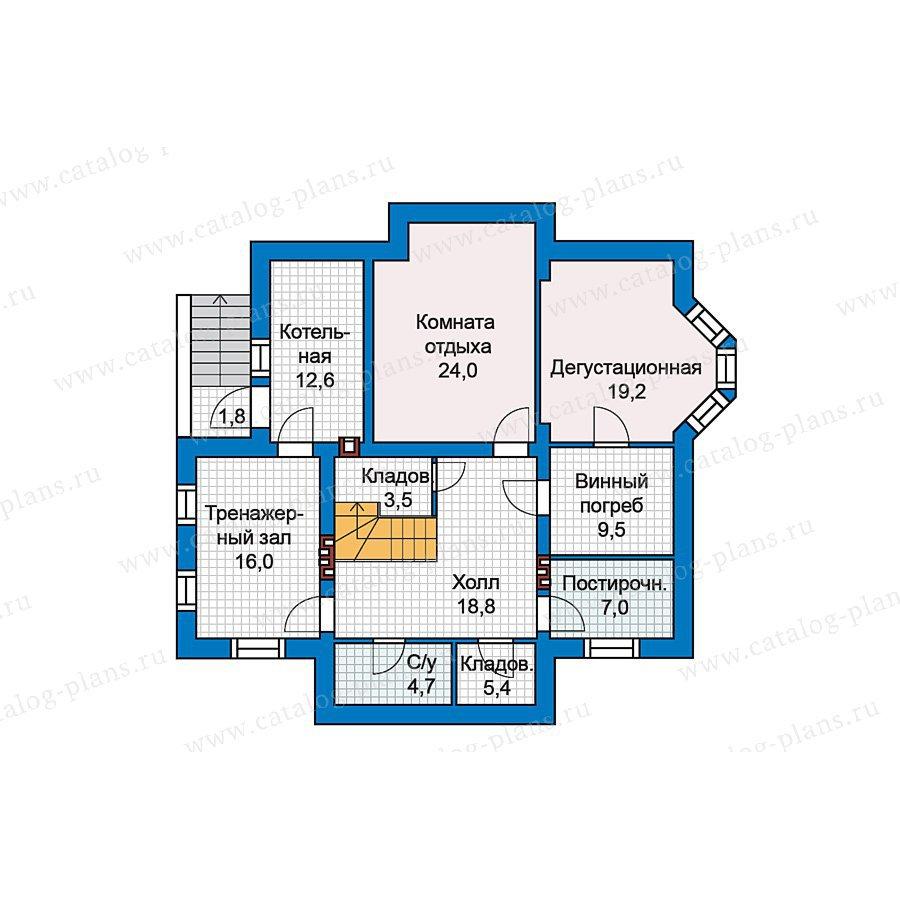 План 1-этажа проекта 49-77