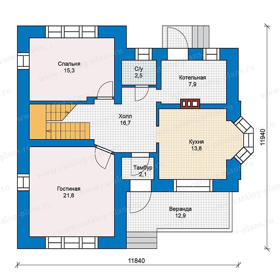 План 1-этажа проекта 49-59