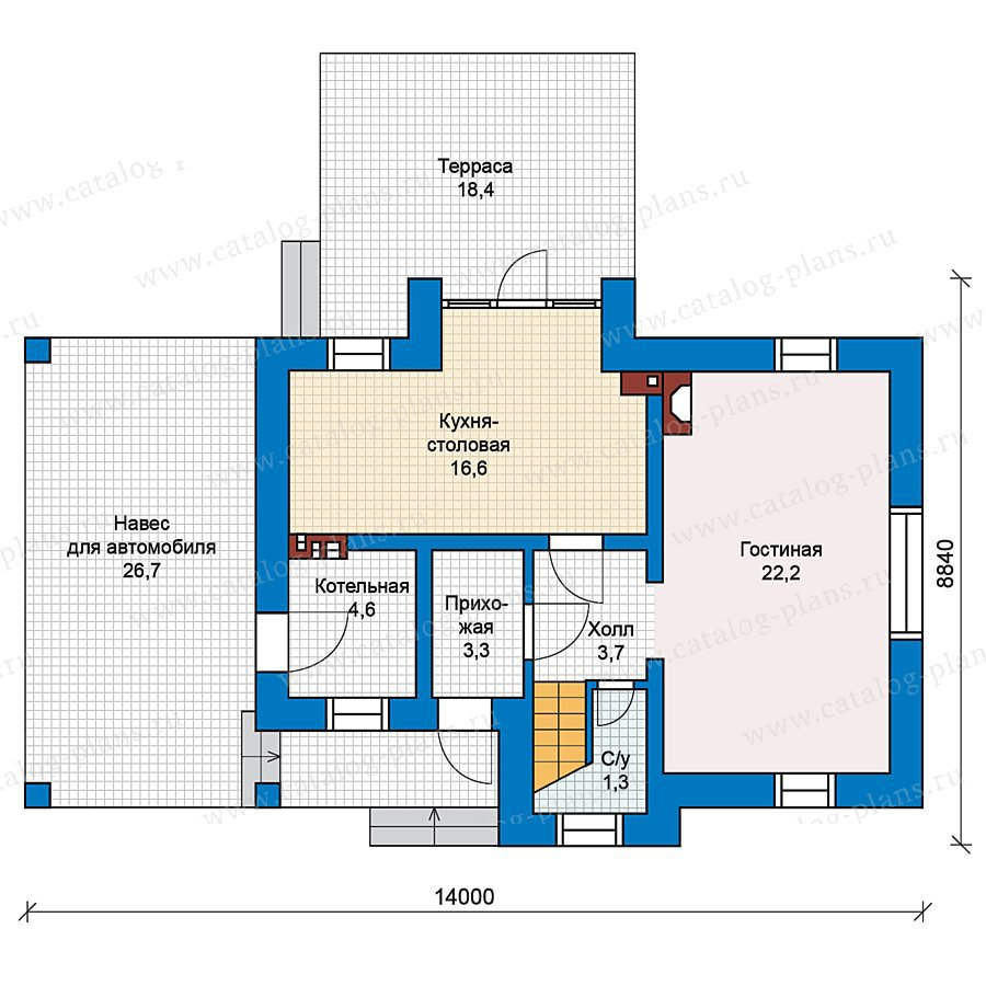 План 1-этажа проекта 49-67