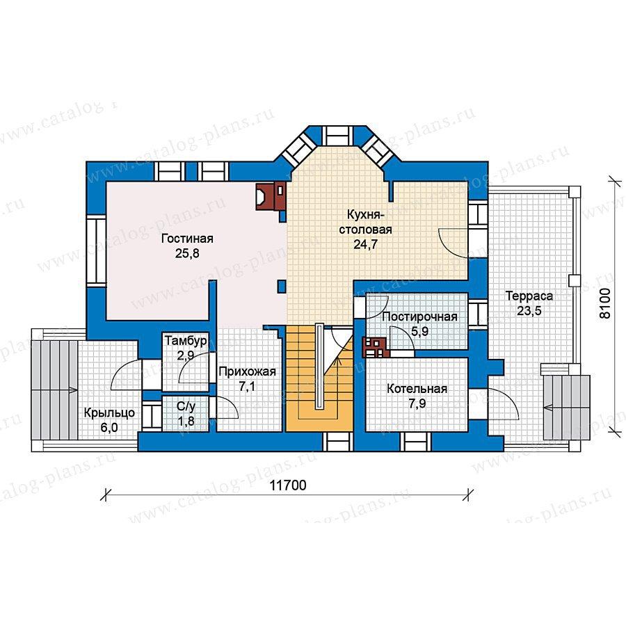 План 1-этажа проекта 49-65