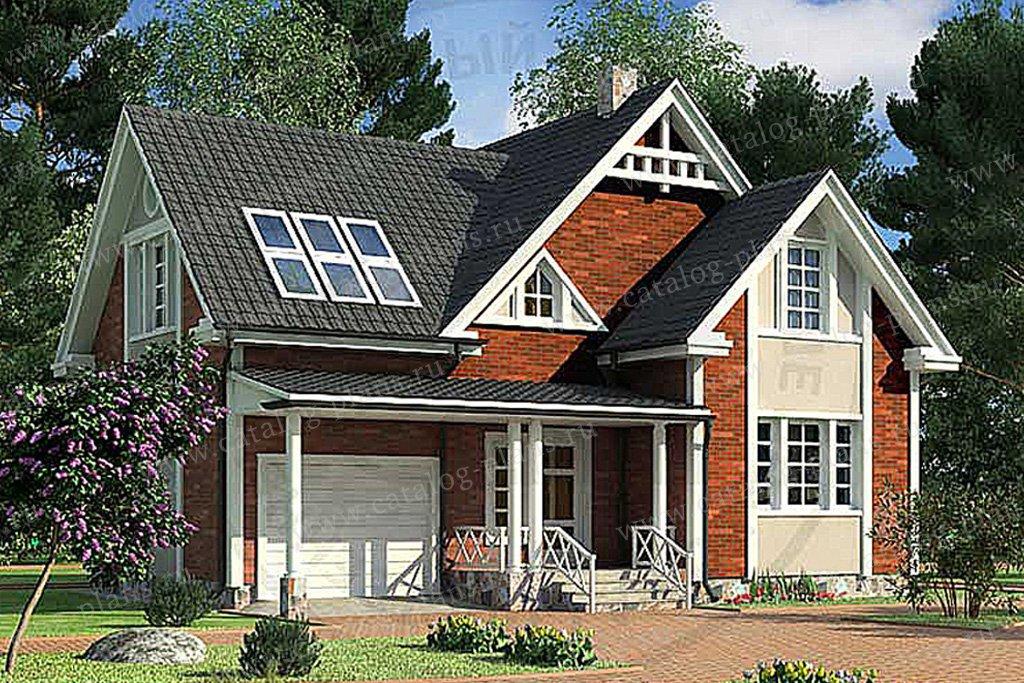 Проект жилой дом #49-60 материал - кирпич, стиль европейский