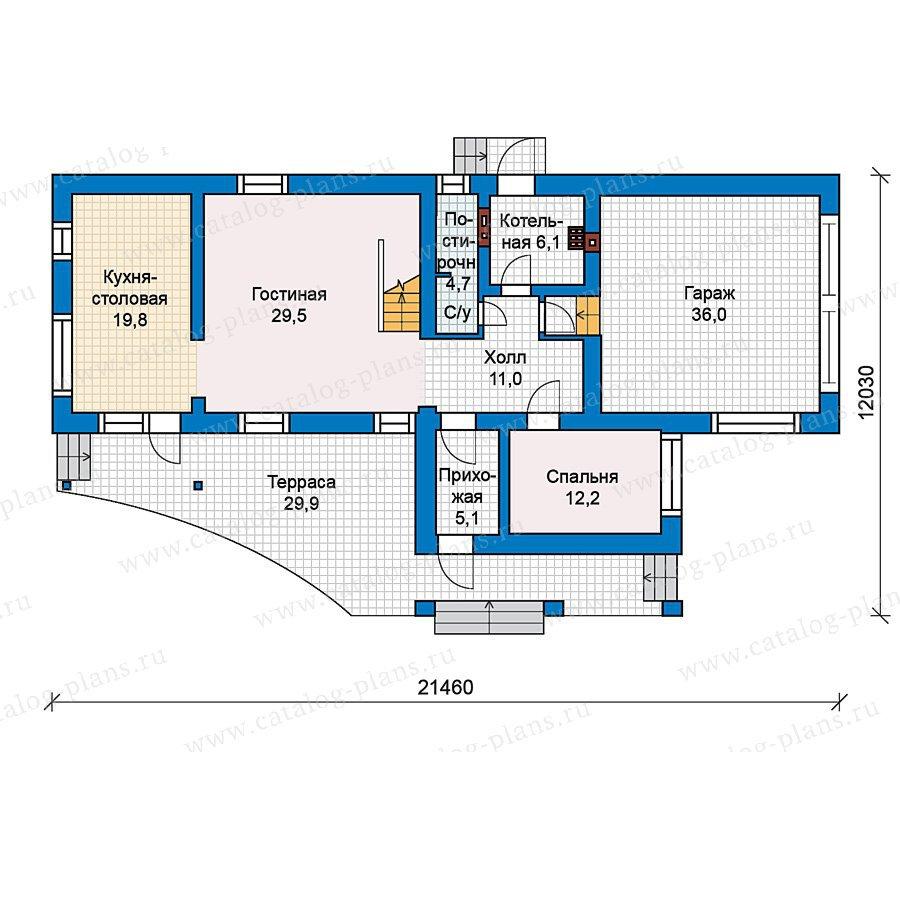 План 1-этажа проекта 49-64