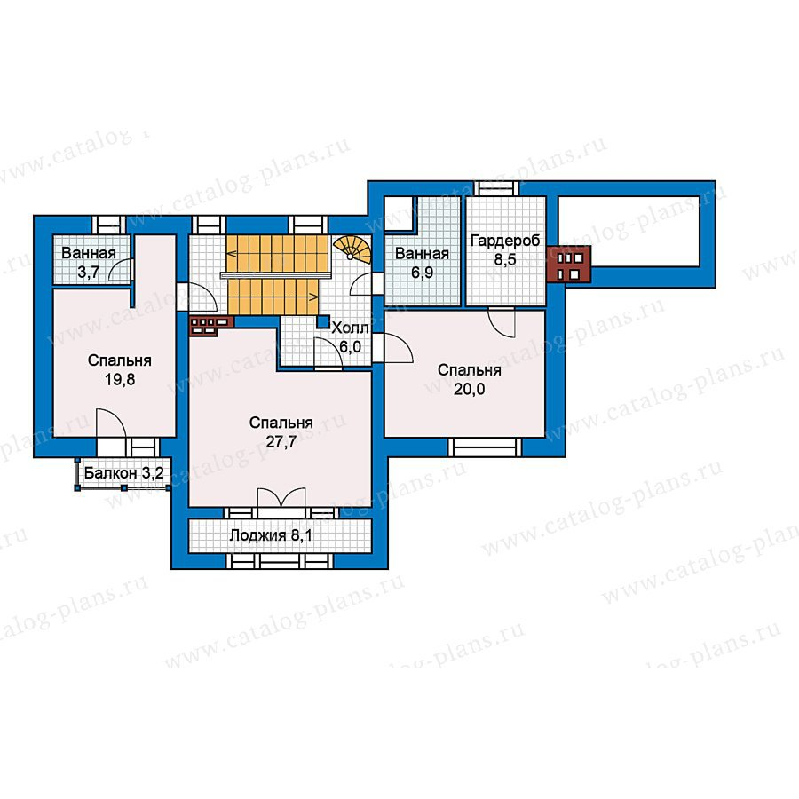 План 3-этажа проекта 49-66