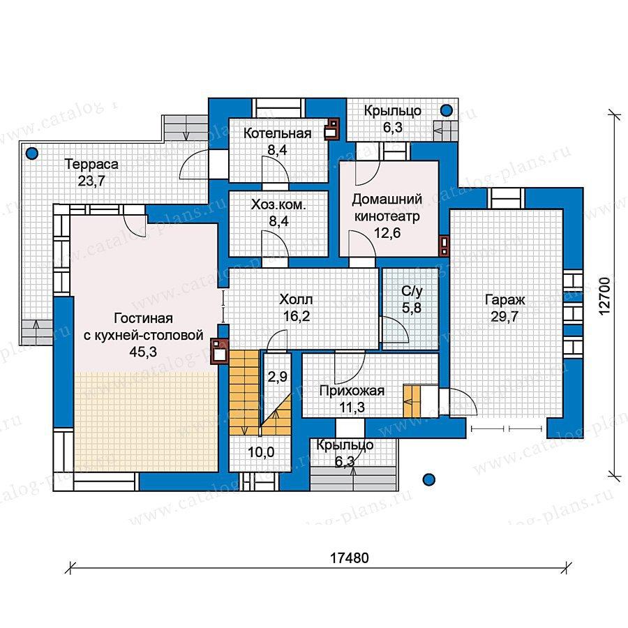 План 1-этажа проекта 49-76