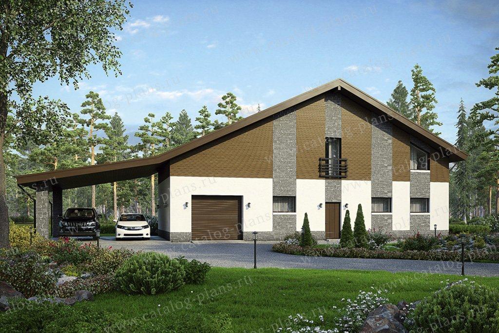 Проект жилой дом #49-52 материал - кирпич, стиль скандинавский