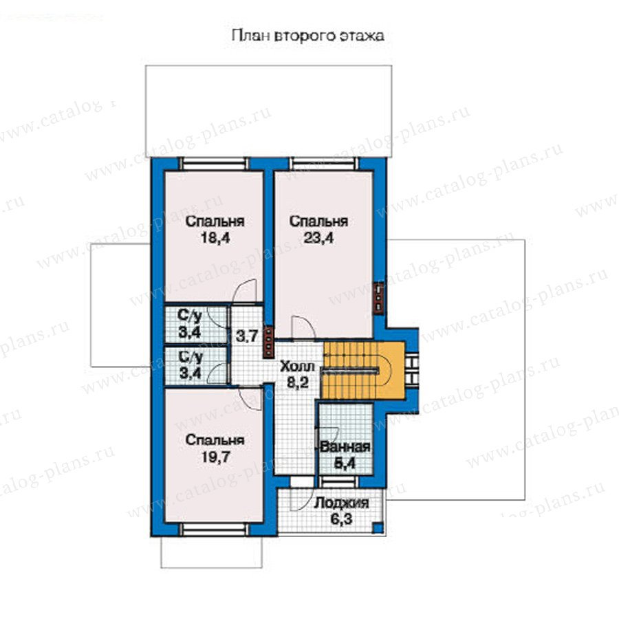 План 2-этажа проекта 49-43