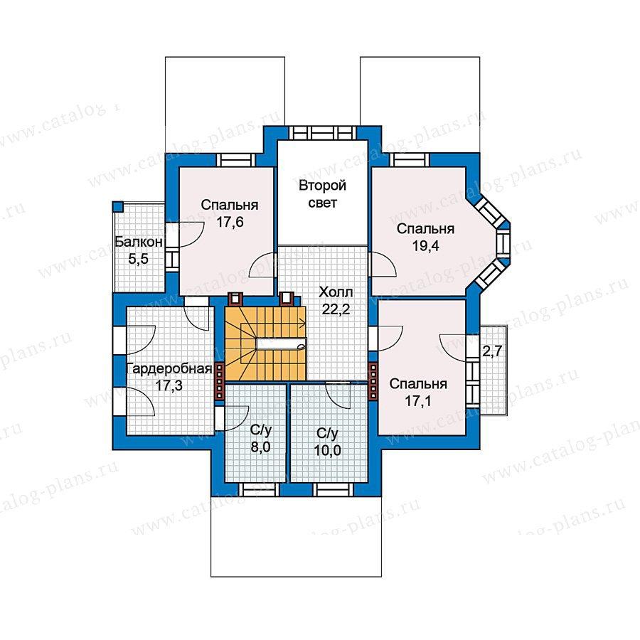 План 3-этажа проекта 49-77