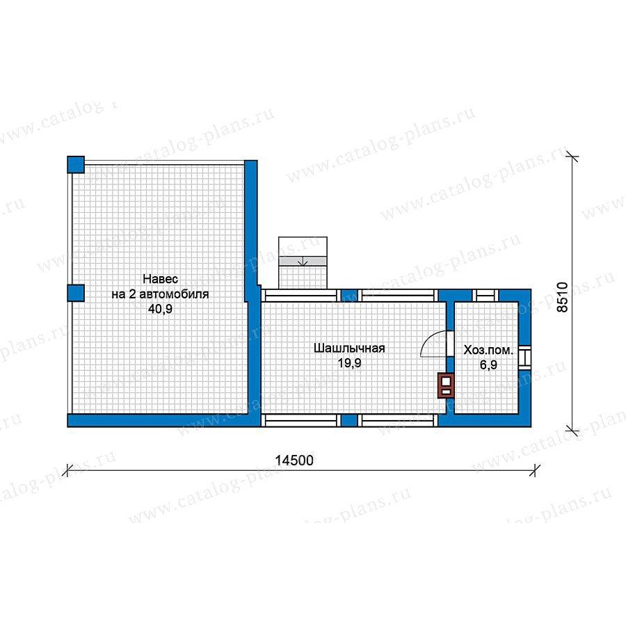 План 1-этажа проекта 49-55