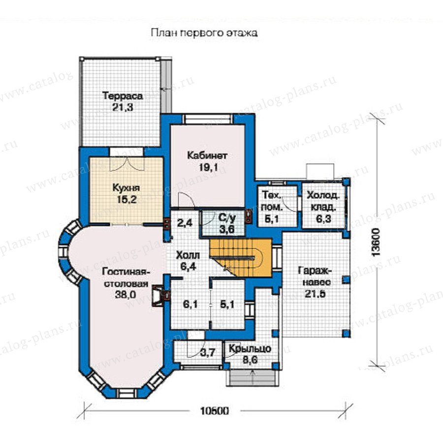 План 1-этажа проекта 49-41