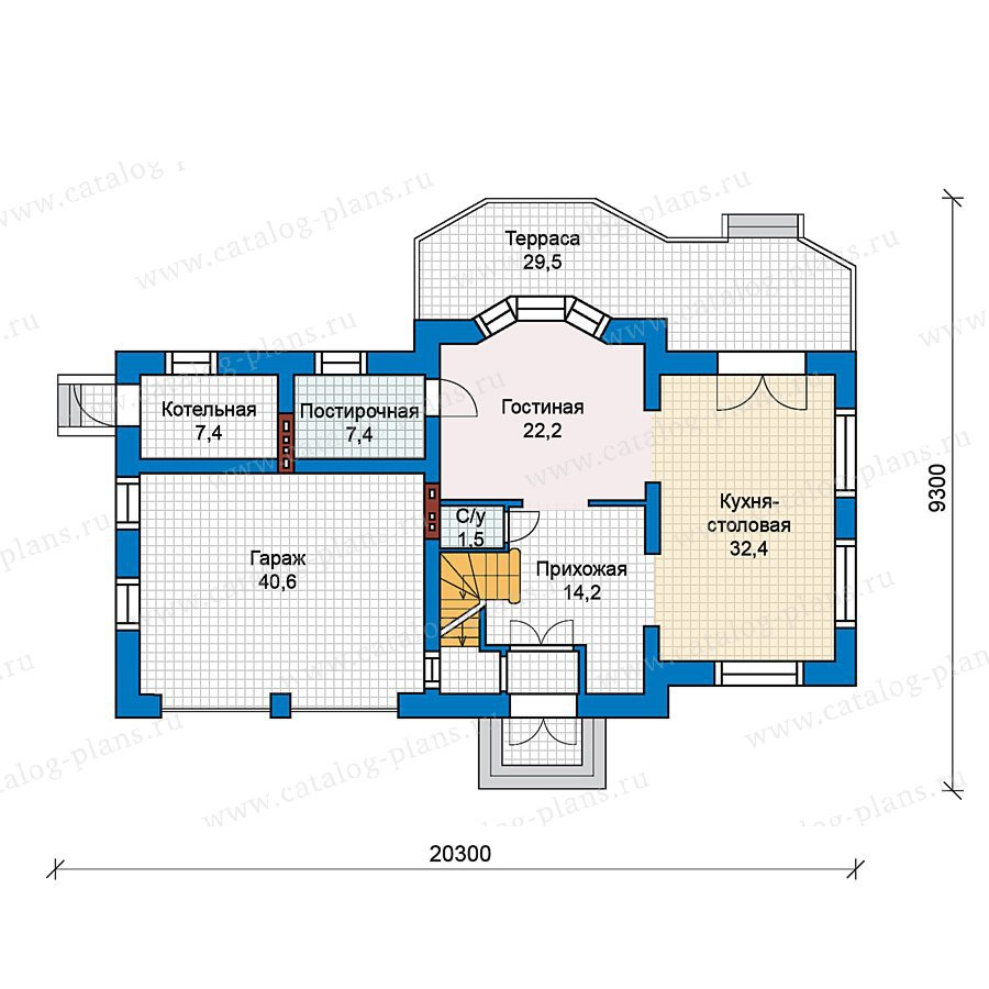 План 2-этажа проекта 49-73