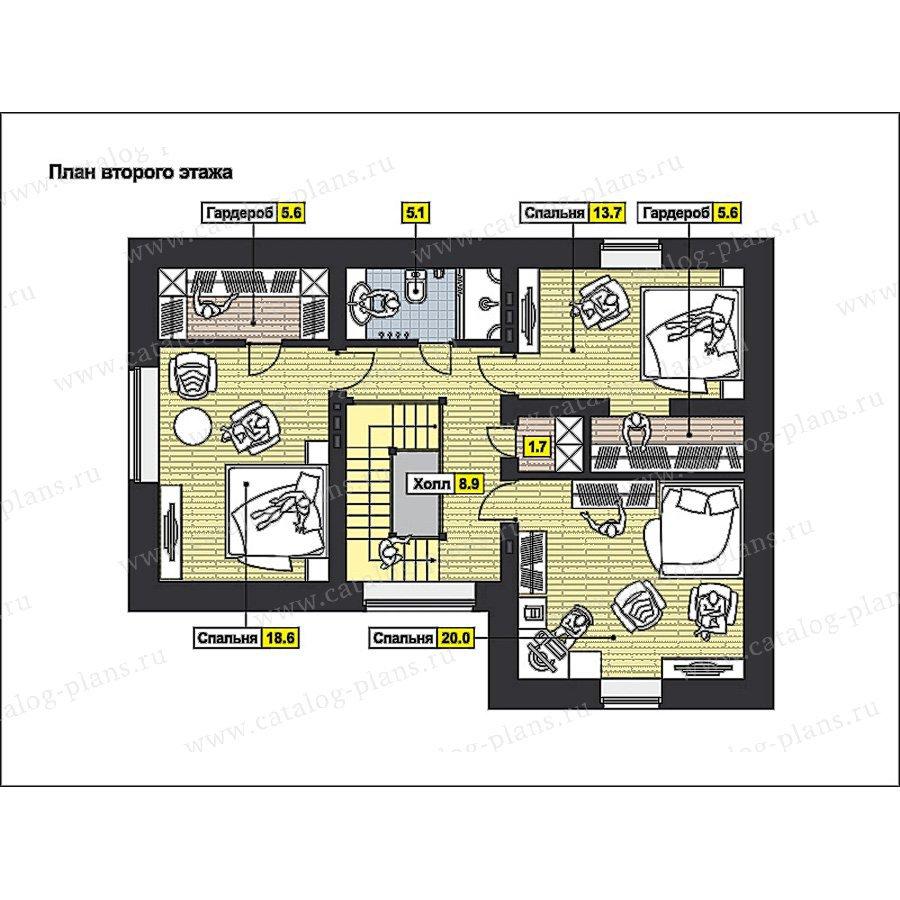 План 2-этажа проекта 49-62