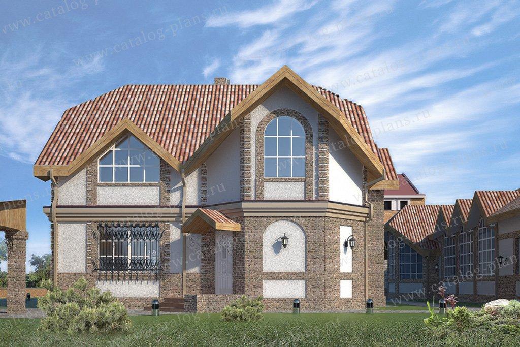 Проект жилой дом #49-72 материал - кирпич, стиль европейский
