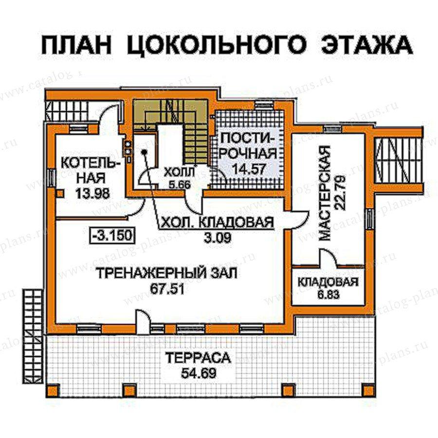 План 1-этажа проекта 49-75