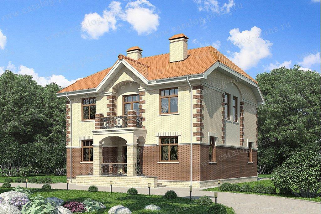 Проект двухэтажного кирпичного дома 49-63 в европейском стил.