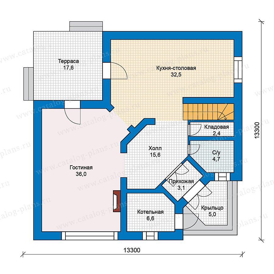 План 1-этажа проекта 49-53