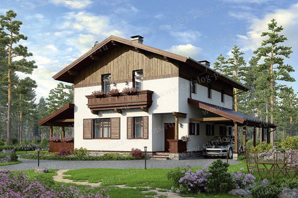 Проект жилой дом #49-79 материал - кирпич, стиль скандинавский