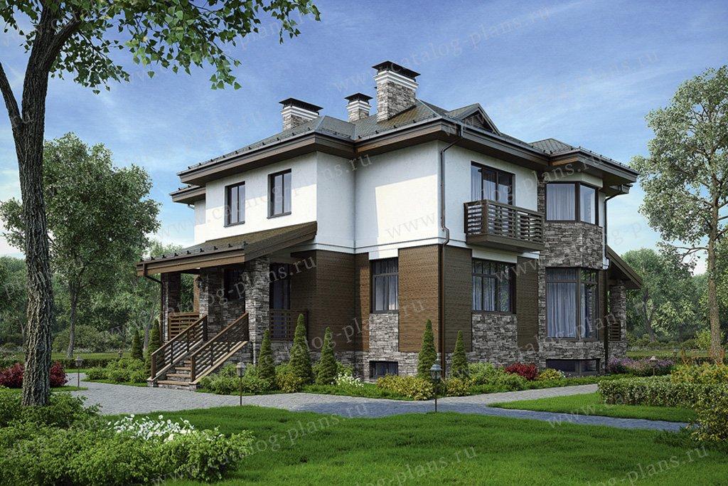 Проект жилой дом #49-77 материал - кирпич, стиль европейский