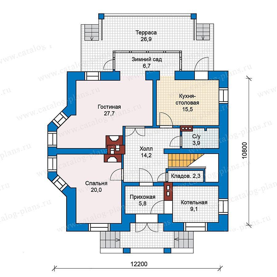 План 1-этажа проекта 49-63