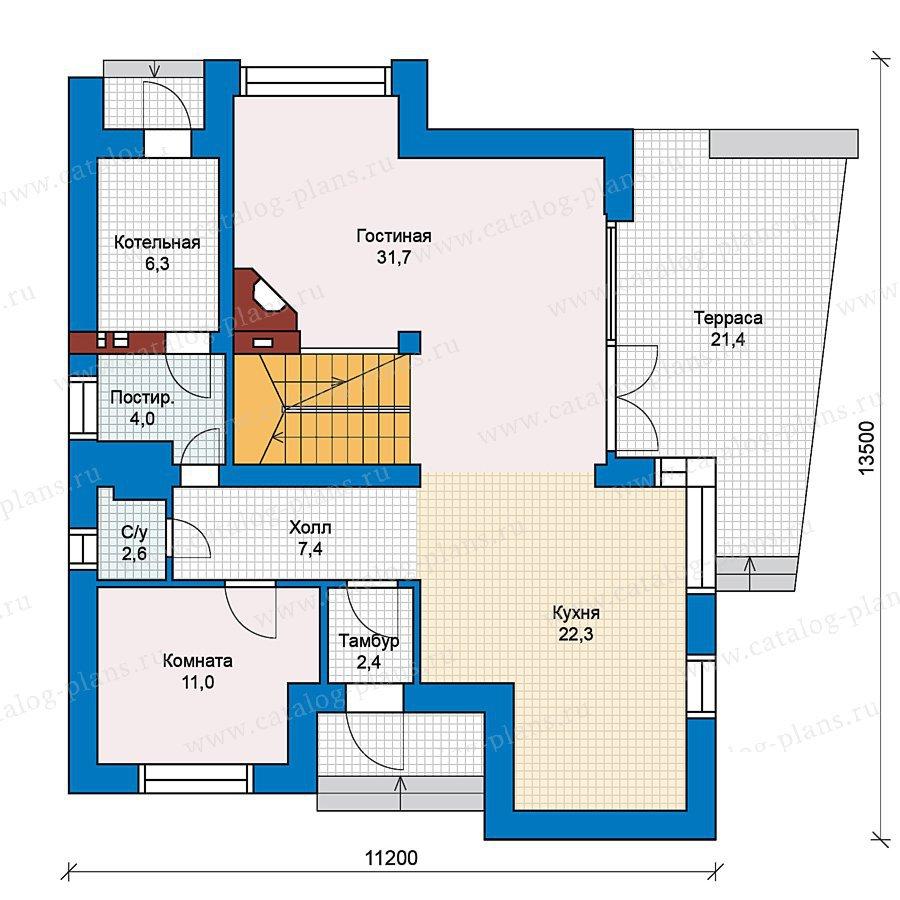 План 1-этажа проекта 49-70