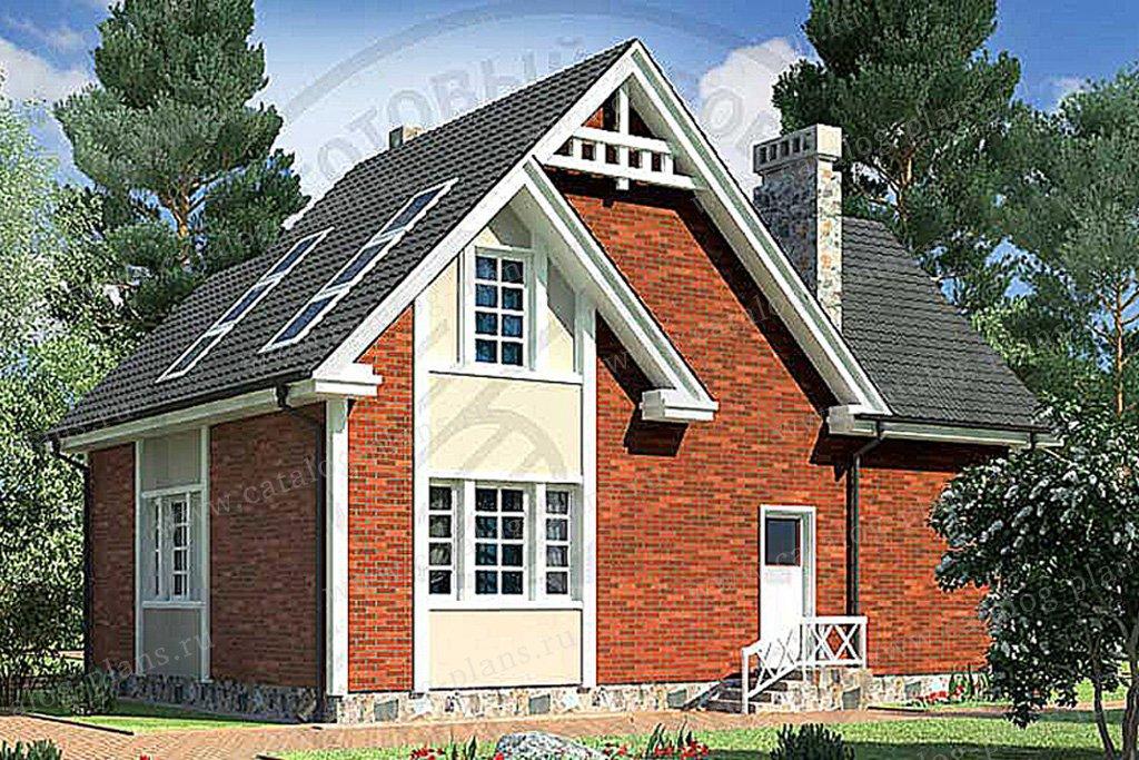 Проект жилой дом #49-62 материал - кирпич, стиль европейский