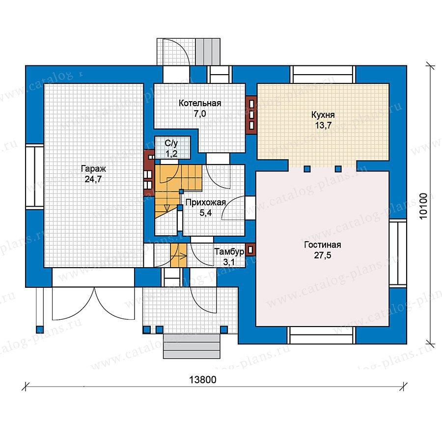 План 1-этажа проекта 49-60