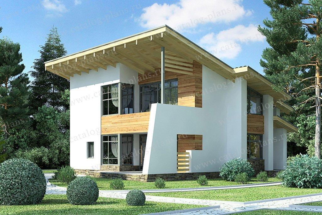 Проект жилой дом #49-70 материал - кирпич, стиль хай-тек