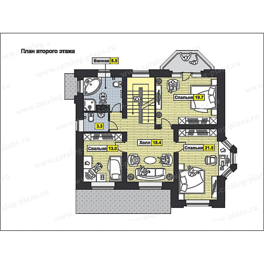 План 2-этажа проекта 49-80