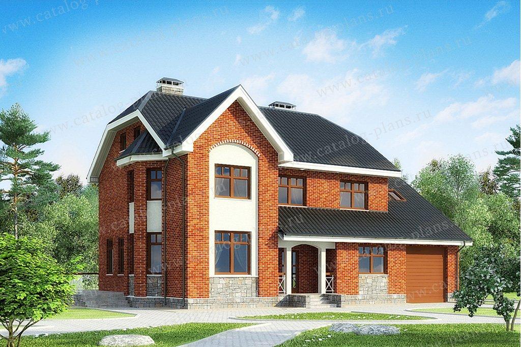 Проект жилой дом #49-81 материал - кирпич, стиль европейский