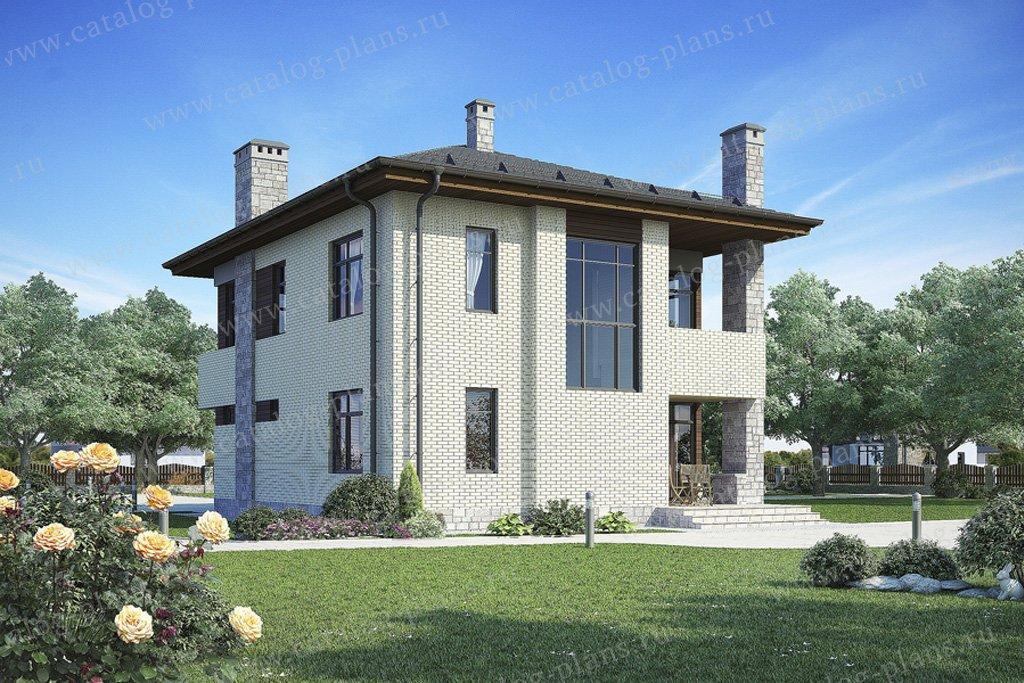 Проект жилой дом #49-96 материал - кирпич, стиль современный