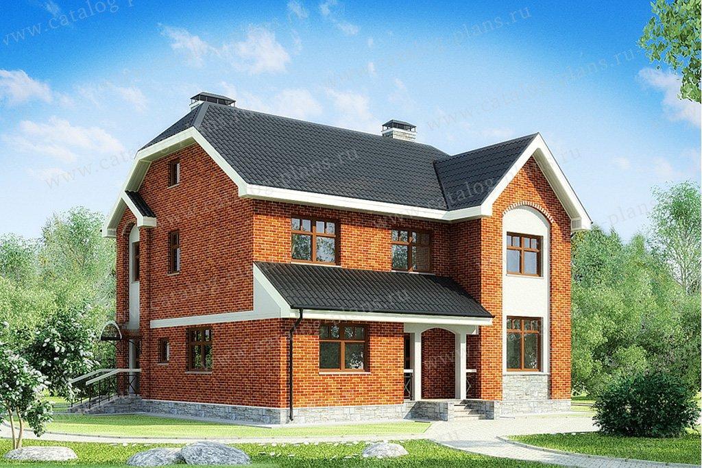 Проект жилой дом #49-83 материал - кирпич, стиль европейский
